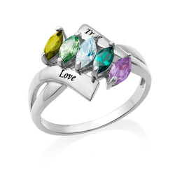 Birthstone Ring for Mom product photo