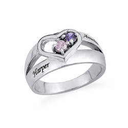 Dual Birthstone Heart Ring product photo