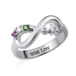 Infinity Mom Ring with Inner Engraving product photo