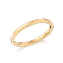 18K Gold Plated Stackable Minimalist Ring product photo