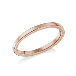 18K Rose Gold Plated Stackable Minimalist Ring product photo