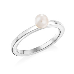 Sterling Silver Stackable Pearl Ring product photo