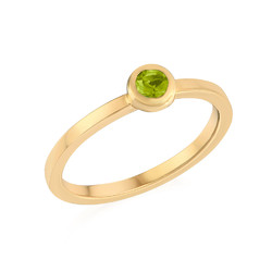 18K Gold Plated Stackable Round Limelicious Green Ring product photo