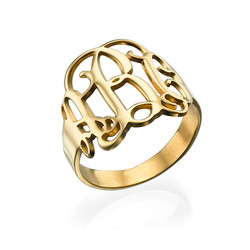 Monogram Ring - 18k Gold Plated product photo
