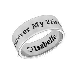Personalized Wide Name Ring in Silver product photo