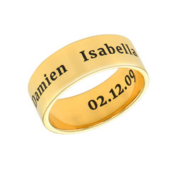 Personalized Wide Name Ring in Gold Plating product photo