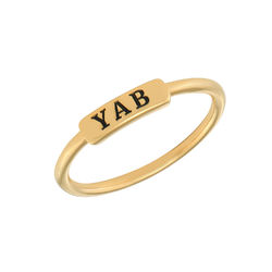 Stackable Nameplate Ring in Gold Plating product photo