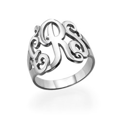 Silver Monogrammed Ring product photo