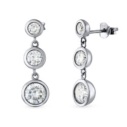 Past Present Future Cubic Zirconia Earrings product photo