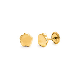 Little Girl 10k Gold Stud Earrings product photo