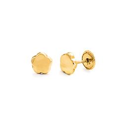 Little Girl 10k Gold Stud Earrings product photo