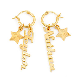 Siena Drop Name Earrings in Vermeil product photo