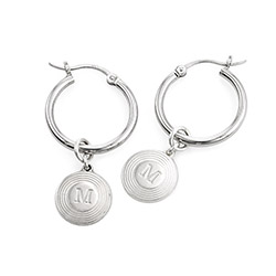 Odeion Initial Earrings in Sterling Silver product photo