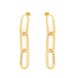 Aria Link Chain Earrings in 18K Gold Plating product photo