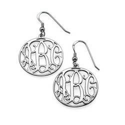 Sterling Silver Monogram Earrings Set product photo