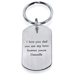 Engraved Dog Tag Keychain for Men product photo