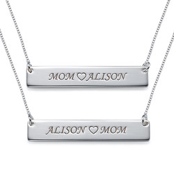 For Moms & Daughters: Engraved Nameplate Necklace Set product photo