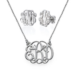Monogram It: Monogram Necklace + Earrings product photo