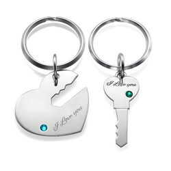 Heart and Key Keychain for Couples product photo