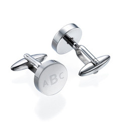Personalized Round Letter Cufflinks product photo
