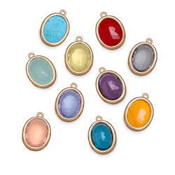 Glass Stones with Gold Plated Lining product photo