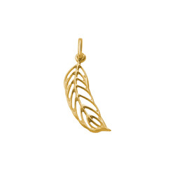 Feather Charm - Gold Plated product photo