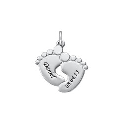 Engraved Baby Feet Charm product photo