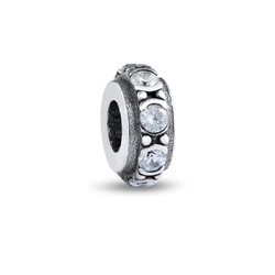 Round Spacer Bead with Cubic Zirconia product photo