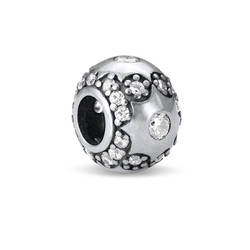 Star Silver Bead with Cubic Zirconia product photo