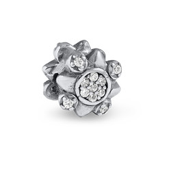 Flower Bead with Cubic Zirconia product photo