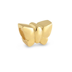 Silver Gold Plated Butterfly Bead product photo