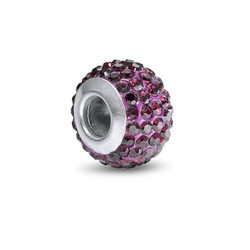 Amethyst Birthstone Bead with Cubic Zirconia product photo