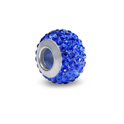 Sapphire Birthstone Bead with Cubic Zirconia product photo