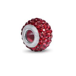 Garnet Birthstone Bead with Cubic Zirconia product photo