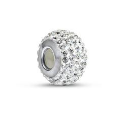 Crystal Birthstone Bead with Cubic Zirconia product photo