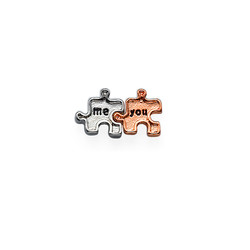 You & Me Puzzle Charm for Floating Locket product photo