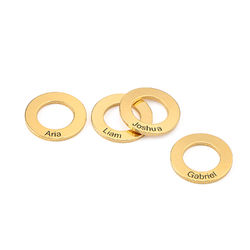 Circle Charm for Bangle Bracelet in Gold Plating product photo
