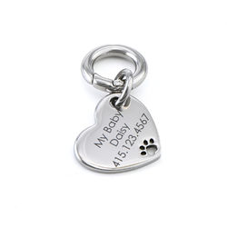 Custom Engraved Pet Id Tag for Dogs and Cats Heart Shaped product photo