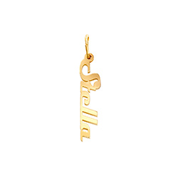 Siena Name Necklace Pendant in Vermeil product photo