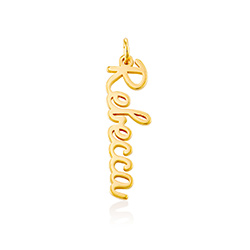 Vertical Name Pendant in Cursive in Gold Vermeil product photo