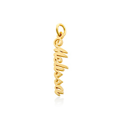 Vertical Name Pendant in Gold Plated product photo