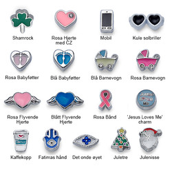 Enamel Charms for Floating Lockets product photo