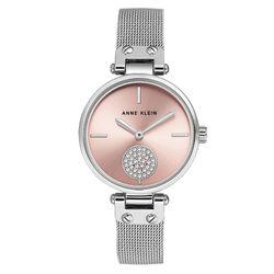 Women's Swarovski Crystal Accented Silver-Tone Mesh Bracelet Watch product photo