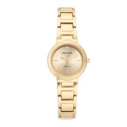 Women's Genuine Diamond Dial Gold-Tone Bracelet Watch product photo