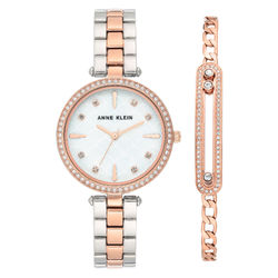 Women's Swarovski Crystal Accented Silver-Tone and Rose Gold-Tone product photo