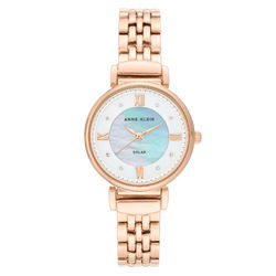 Solar Powered Swarovski Crystal Accented Bracelet Watch for Women product photo
