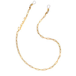 Siena Link Chain for Glasses in Gold Plating product photo