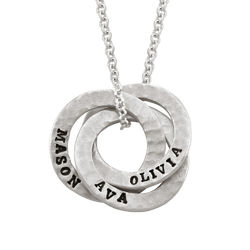 Stamped Russian Ring Sterling Silver Necklace product photo