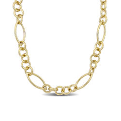 Fancy Link Necklace in Gold Plated Sterling Silver with Big Stylish product photo