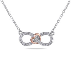 1/10 CT. T.W. Diamond Infinity Necklace Pendant in Sterling Silver product photo